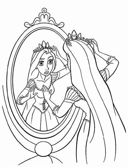Coloring Rapunzel Disney Prinzessin Ausmalbilder Princess Malvorlagen