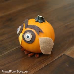 woodland animals pumpkins fall craft