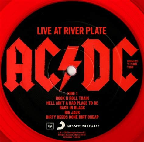 AC/DC Live At River Plate Buenos Aires limited edition RED ...