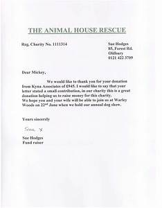 kyna associates donates gbp945 to the animal house rescue With animal rescue donation request letter
