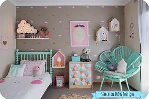 inspiration deco pour une chambre de bebe poetique With incroyable papier peint couleur taupe 11 chambre fille vert pastel