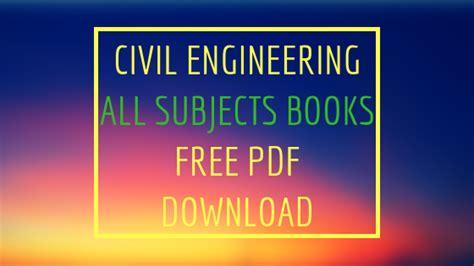 civil engineering  subjects books