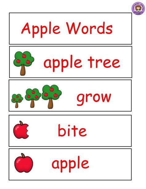 apple theme word wall words buy sell teach preschool