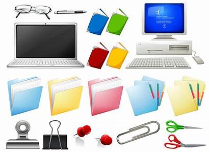 Computer Objects Office Vector Premium Clipart Graphics
