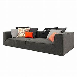 Tom Tailor Big Sofa : bigsofa big cube 4 sitzer webstoff anthrazit 6 kissen 300 x 129cm tom tailor online ~ Bigdaddyawards.com Haus und Dekorationen