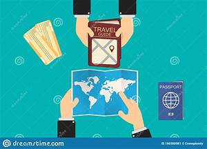 Executive Goes To A Travel Agency  Shows A Map And The