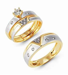 Gold wedding ring sets for her gold wedding rings for him for Wedding ring sets for her