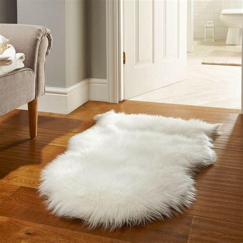 rugs smooth white fur rug  cute floor accessories