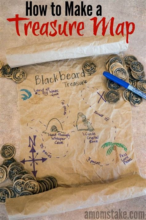 easy recycled treasure map craft  activity  kids