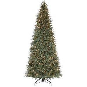 10 ft pre lit meadow fir quick set artificial christmas tree with surebright clear lights