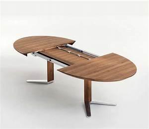 Tisch Oval Ausziehbar : esstisch oval holz ausziehbar mit verchromte metallstruktur ~ Frokenaadalensverden.com Haus und Dekorationen