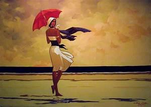 VERSI IN VOLO: Con l'ombrello rosso