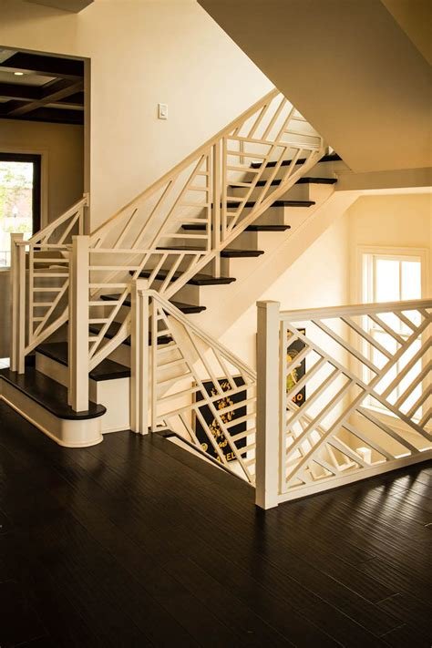 wooden baluster custom stairs artistic stairs