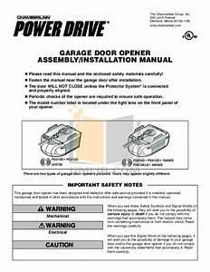 Chamberlain Whisper Garage Door Opener Manual