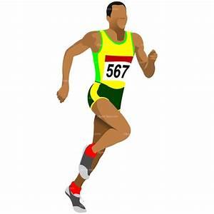 clipart athlete running   CLIPART ATHLET RUNNING   Royalty ...