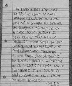 Sad Depressing Suicide Letters Related Keywords ...