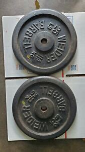 vintage weider  lb barbell weight plates standard  hole  pounds total ebay
