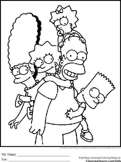 The Simpsons Coloring Pages   Coloring Pages   Pinterest
