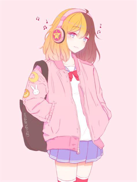 pink pastel anime Tumblr