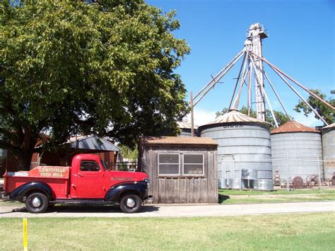 side view of the lewisville feed mill my home town