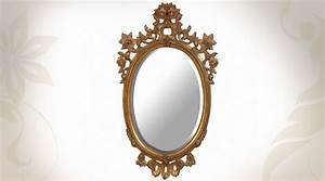 Grand Miroir Baroque : grand miroir baroque dor ovale collection versailles ~ Teatrodelosmanantiales.com Idées de Décoration
