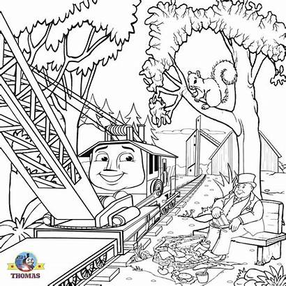 Coloring Train Steam Thomas Pages Engine Printable