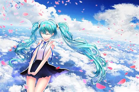 Anime Wallpaper Hd Hatsune Miku Anime Anime Clouds Hatsune Miku Wallpapers Hd