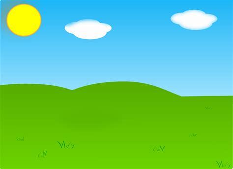 vector graphic summer sky landscape garden sun