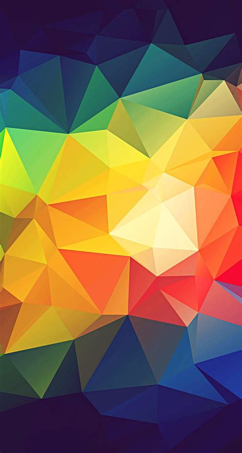colorful abstract triangle shapes render iphone 6 plus hd