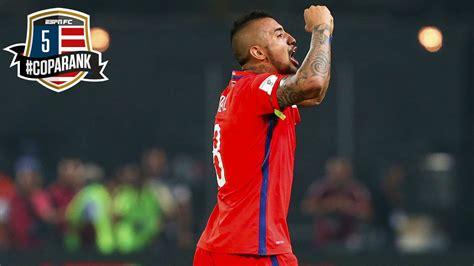 Chile's Arturo Vidal - 5th in Copa Rank