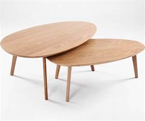 Table Basse Gigogne Scandinave : table basse gigogne design scandinave visby ch ne lot de ~ Voncanada.com Idées de Décoration