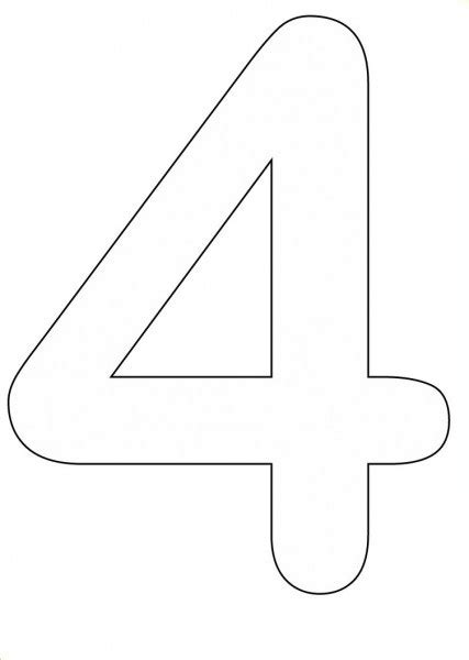 coloring pages of number 4 coloring pages