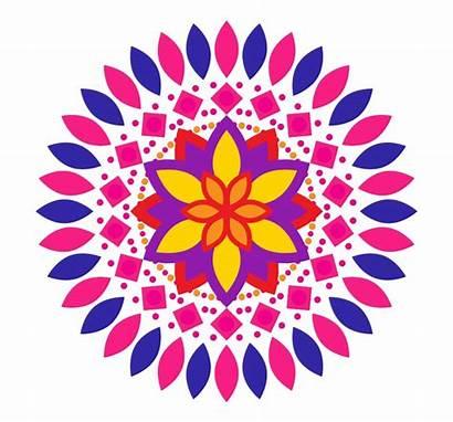 Rangoli Designs Clipart Diwali Kolam Easy Festival