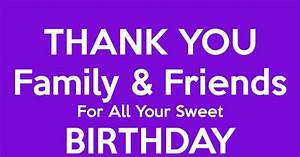 Happy Birthday Emoji Message Thank You Family Friends For All Your Sweet Birthday