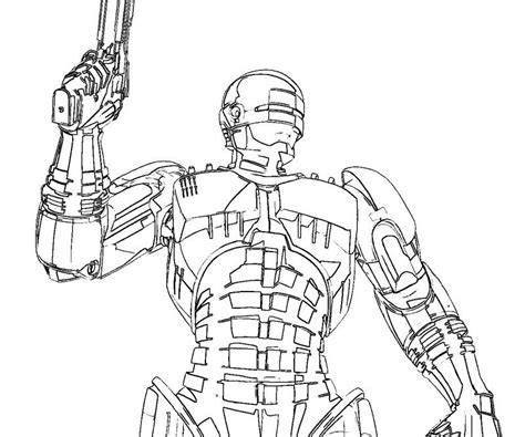 printable coloring pages robocop superheroes