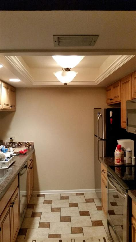 Kitchen Lighting Fixtures Ceiling by Picture Only Ceiling Lights Replacing Recessed