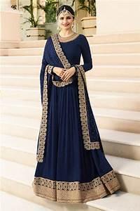 Designer Kurtis Online Wholesale Silk Party Wear Anarkali Gown Collection Latest Dresses