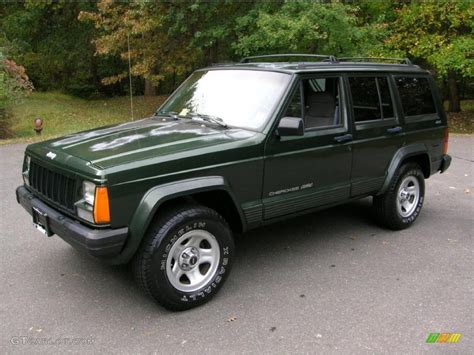 jeep cherokee green 2015 moss green pearl 1996 jeep cherokee classic 4x4 exterior