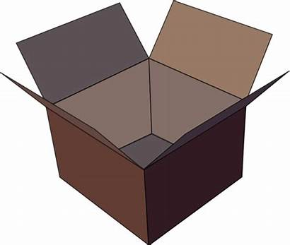 Empty Clip Clipart Box Brown Cupboard Refrigerator