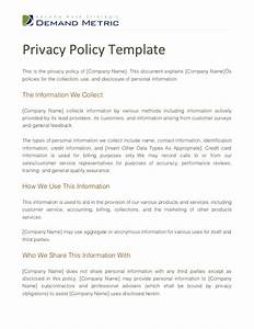 Privacy policy template for Corporate privacy policy template