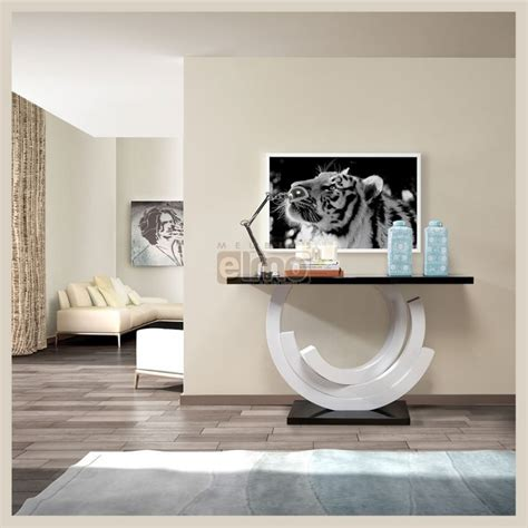 cuisine destockage console de salon design moderne laque bicolore