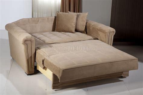 dark beige microfiber modern convertible loveseat bed