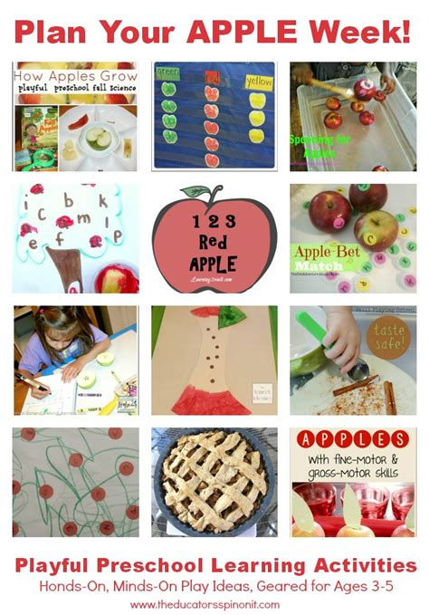 on preschool apple theme activities for teachers and 494 | Apple2BLearning2BWeek2B2 2