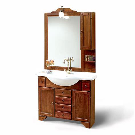 Mobile bagno cm 105 con ante e cassetti, lavabo in
