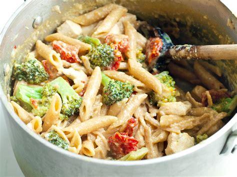 tangy  pot chicken  veggie pasta dinner healthy