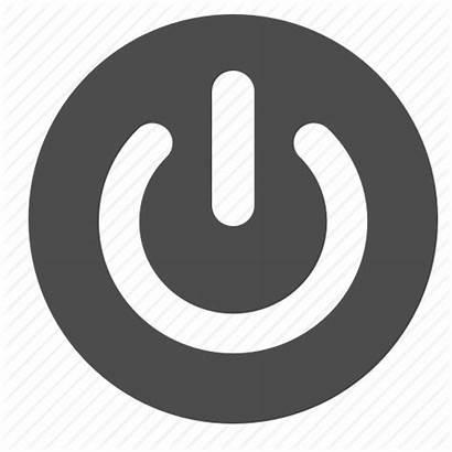 Button Power Icon Turn Symbol Icons Ico