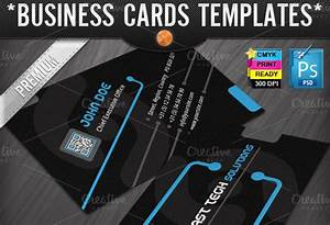 Technology business cards templates business card templates on creative market for Color tech business cards