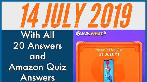 amazon quiz answers  july quiz