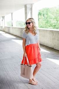 Orange Ruffle Skirt | The Southern Style Guide