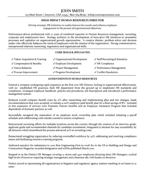 Director Resume by Director Of Human Resources Resume